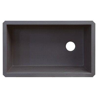 Radius 31 x 18.5 Granite Single Bowl Undermount Kitchen Sink Finish: Grey