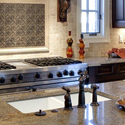 Radius 31 x 18.5 Granite Double Equal Undermount Kitchen Sink Finish: White