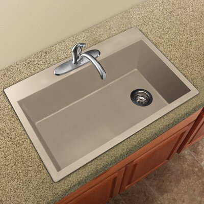 Radius 33 x 22 Granite Single Bowl Drop-in Kitchen Sink Finish: Cafe Latte