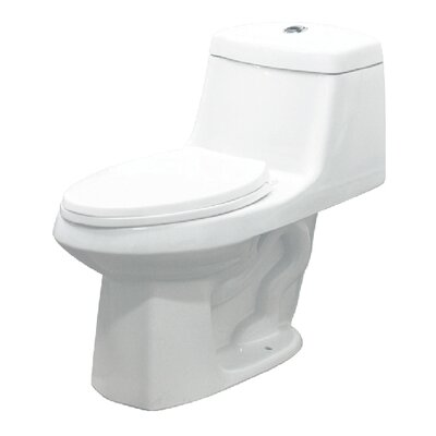 Jackson Dual Flush Elongated One Piece Toilet Finish: White
