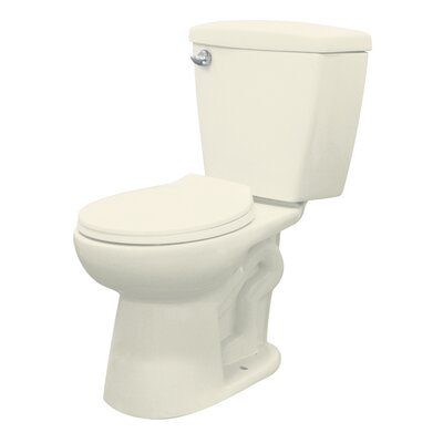 Harrison 1.28 Elongated Two Piece Toilet Finish: Biscuit, Lever Location: Left-Hand