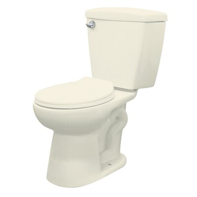 Harrison 1.28 Round Two Piece Toilet Finish: Biscuit, Lever Location: Left-Hand