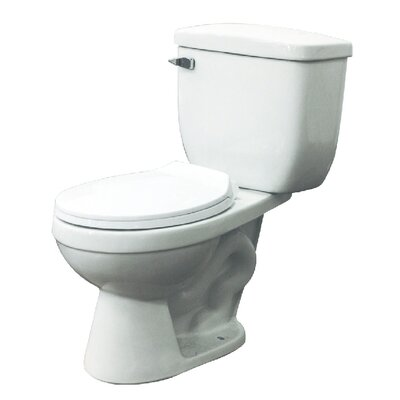 Madison 1.6 GPF Round Two Piece Toilet Lever Location: Left-Hand
