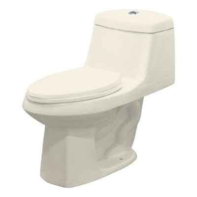 Jackson Dual Flush Elongated One Piece Toilet Finish: Biscuit