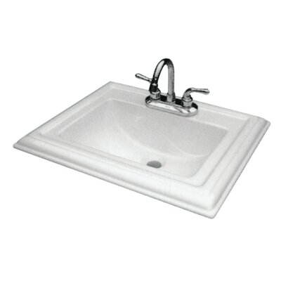 Avalon Vitreous China Rectangular Drop-In Bathroom Sink with Overflow