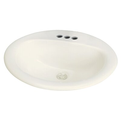 Akron Vitreous China Oval Drop-In Bathroom Sink with Overflow