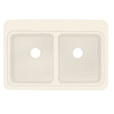 Charlotte 22 x 33 Double Bowl Kitchen Sink Finish: Almond