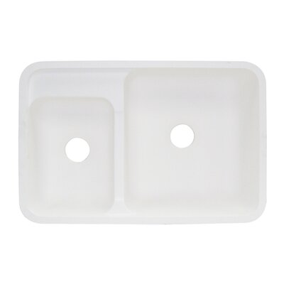 Augusta 21 x 32 Double Bowl Kitchen Sink Finish: White