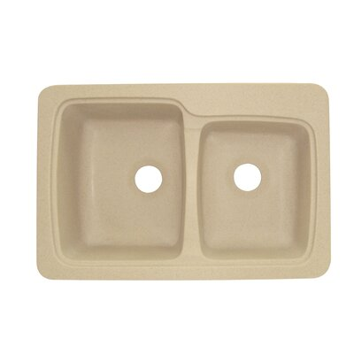 Savannah 22 x 33 Double Bowl Kitchen Sink Finish: Matrix Khaki