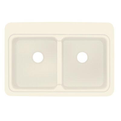 Charlotte 22 x 33 Double Bowl Kitchen Sink Finish: Biscuit