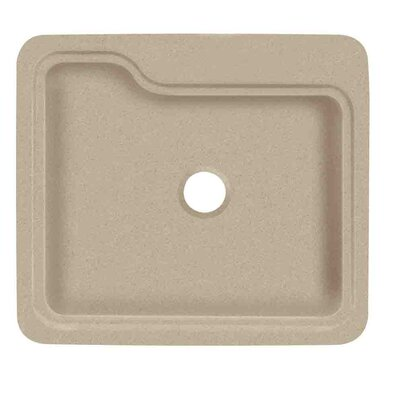 Portland 25 x 22 Single Bowl Kitchen Sink Finish: Matrix Sand