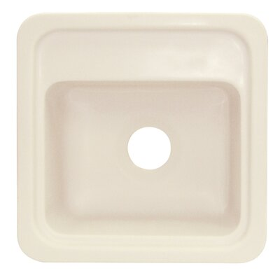 Concord 18 x 18 Single Bowl Kitchen Sink Finish: Almond