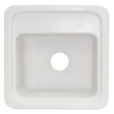 Concord 18 x 18 Single Bowl Kitchen Sink Finish: White