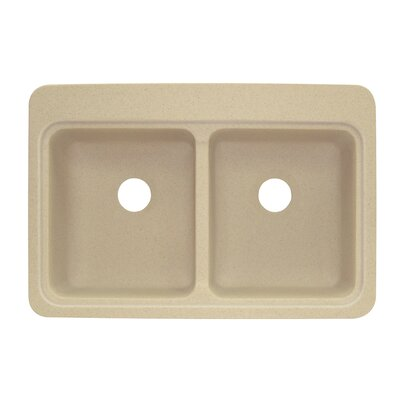 Charlotte 22 x 33 Double Bowl Kitchen Sink Finish: Matrix Khaki