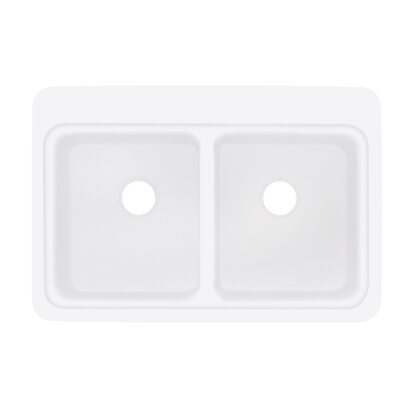 Charlotte 22 x 33 Double Bowl Kitchen Sink Finish: White