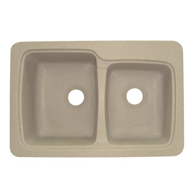 Savannah 22 x 33 Double Bowl Kitchen Sink Finish: Matrix Sand