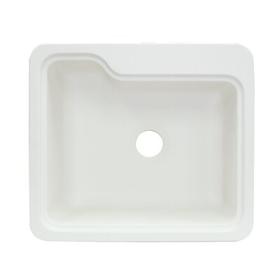 Portland 25 x 22 Single Bowl Kitchen Sink Finish: White