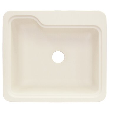Portland 25 x 22 Single Bowl Kitchen Sink Finish: Almond