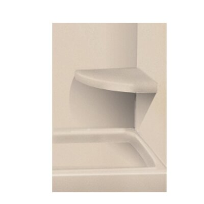 Solid Surface Built-in Shower Bench Finish: Sand Castle
