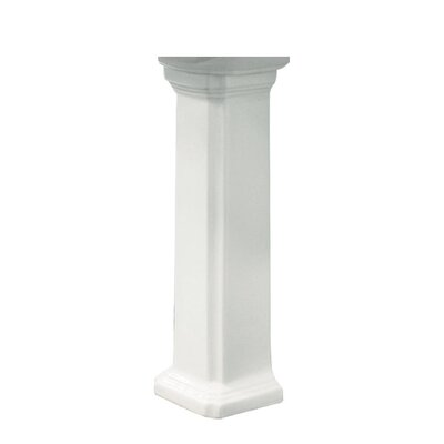 Harrison Vitreous China Pedestal Leg Finish: White