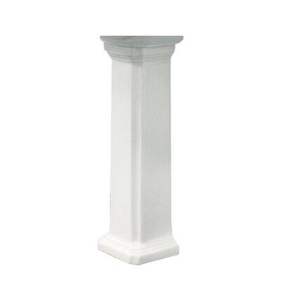 Harrison Vitreous China Pedestal Leg Finish: White
