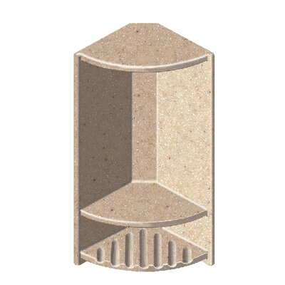 Solid Surface Recessed Corner Shower Niche Finish: Sand Castle