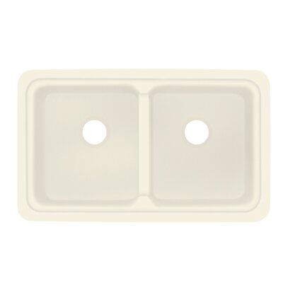 Aberdeen 18 x 30 Double Bowl Kitchen Sink Finish: Biscuit