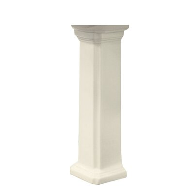 Harrison Vitreous China Pedestal Leg Finish: Biscuit