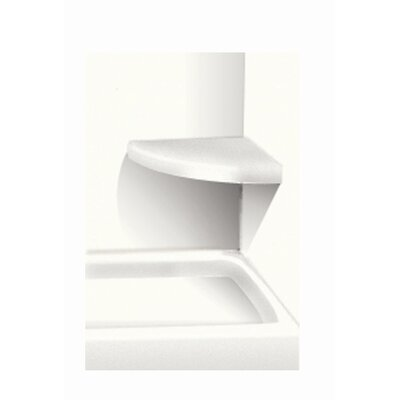 Solid Surface Built-in Shower Bench Finish: White