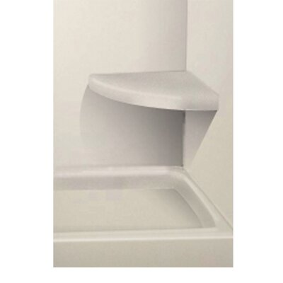 Solid Surface Built-in Shower Bench Finish: Matrix White