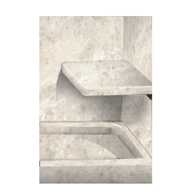 Solid Surface Built-in Shower Bench Finish: Silver Mocha