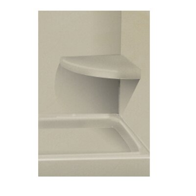 Solid Surface Built-in Shower Bench Finish: Peppered Sage