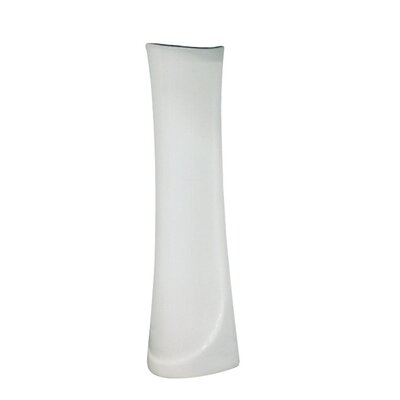 Madison Vitreous China Pedestal Leg Finish: White
