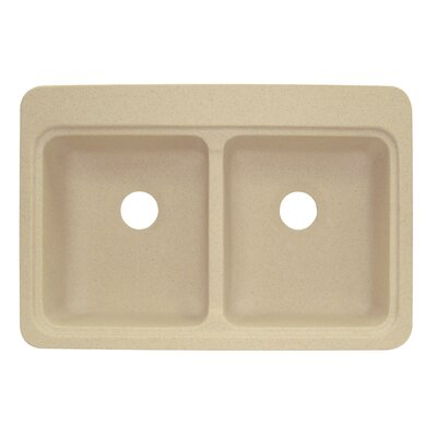 Cambridge 22 x 33 Double Bowl Kitchen Sink Finish: Matrix Sand