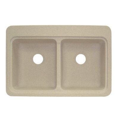 Cambridge 22 x 33 Double Bowl Kitchen Sink Finish: Matrix Khaki