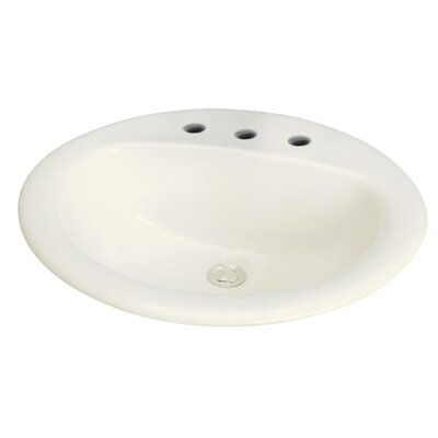 Akron Drop-in Self Rimming Bathroom Sink Sink Finish: Biscuit