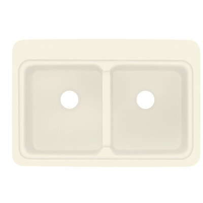 Cambridge 22 x 33 Double Bowl Kitchen Sink Finish: Biscuit