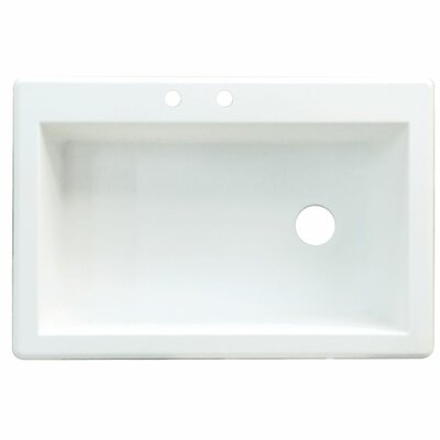 Radius 33 x 22 Single Basin Drop-in Kitchen Sink Finish: Cafe Latte, Faucet Drillings: 2 hole