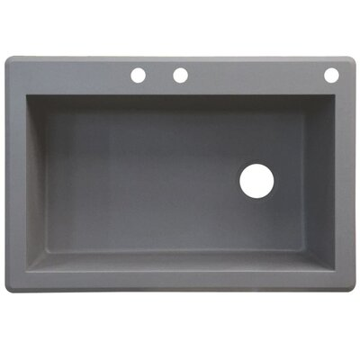 Radius 33 x 22 Single Basin Drop-in Kitchen Sink Finish: Gray