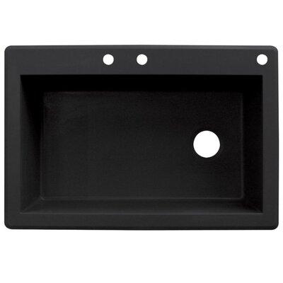 Radius 33 x 22 Single Basin Drop-in Kitchen Sink Finish: Black