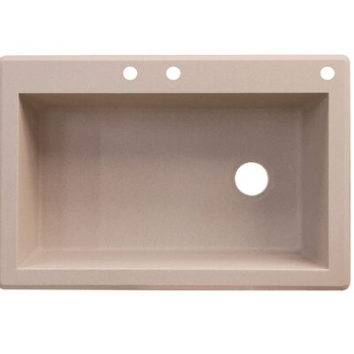 Radius 33 x 22 Single Basin Drop-in Kitchen Sink Finish: Cafe Latte