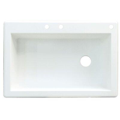 Radius 33 x 22 Single Basin Drop-in Kitchen Sink Finish: White