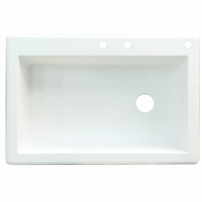 Radius 33 x 22 Single Basin Drop-in Kitchen Sink Finish: White