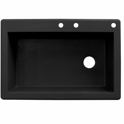 Radius 33 x 22 Single Basin Drop-in Kitchen Sink Finish: Black
