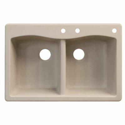 Aversa 33 x 22 Double Basin Drop-in Kitchen Sink Finish: Cafe Latte