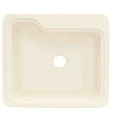 Portland 25 x 22 Single Bowl Kitchen Sink Finish: Biscuit