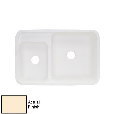 Augusta 21 x 32 Double Bowl Kitchen Sink Finish: Shell