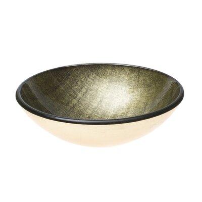 Ives Glass Circular Vessel Bathroom Sink