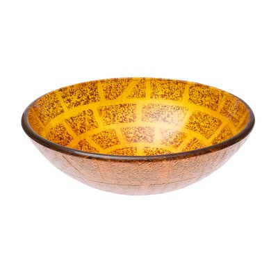Bartok Glass Circular Vessel Bathroom Sink