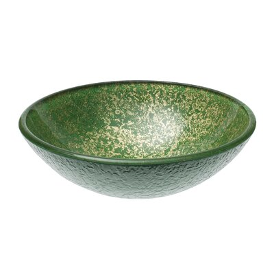 Kelly Speckled Glass Circular Vessel Bathroom Sink